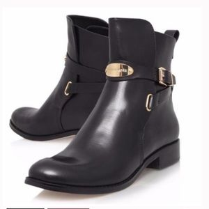 MICHAEL KORS ARLEY GOLD PLATE ANKLE BOOTS
